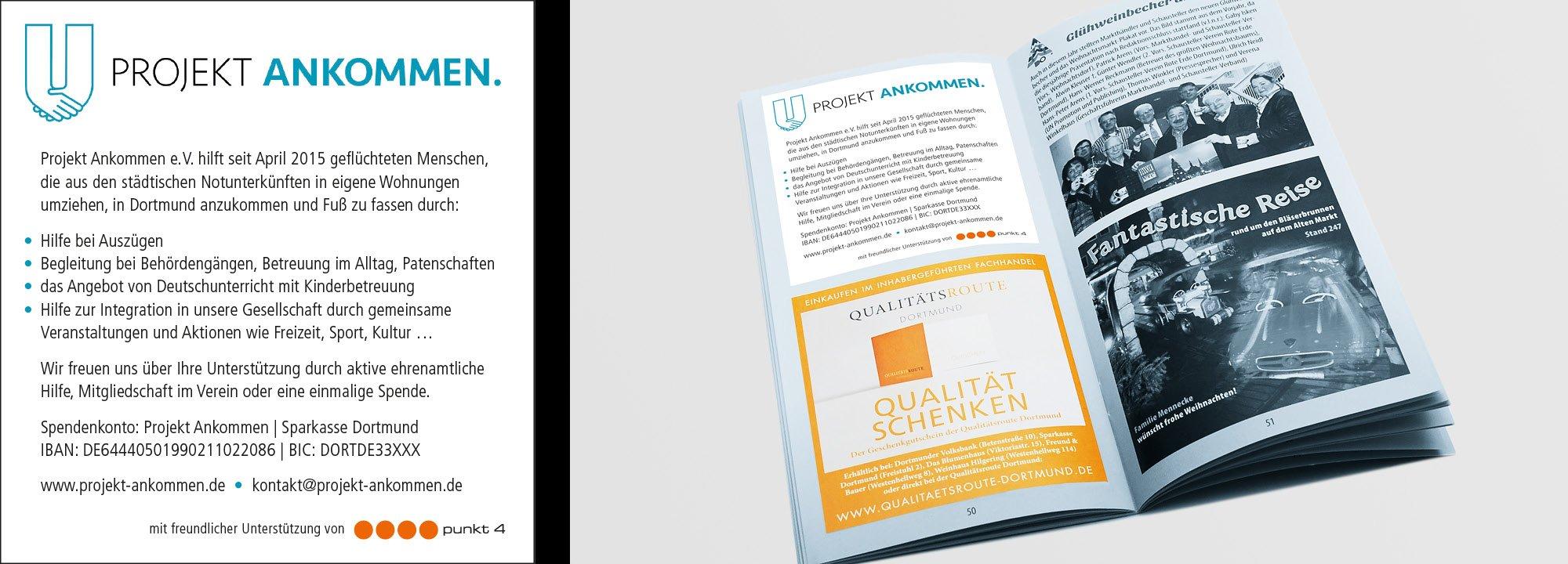 Sponsorenanzeige Projekt Ankommen 2015